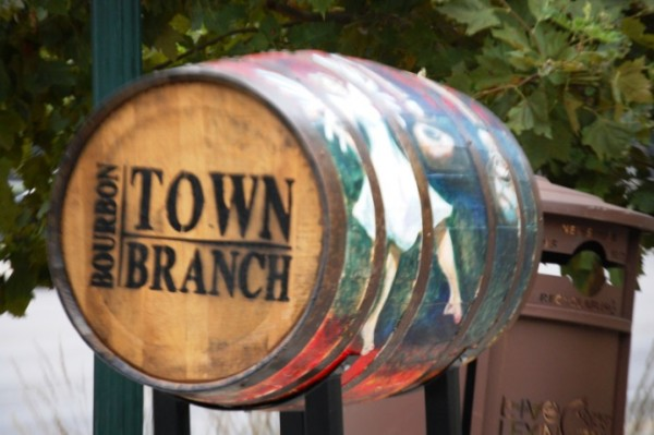 Kuhn's 2013 painted Bourbon Barrel was part of the Town Branch Bourbon Public Arts Projects in Lexington, Kentucky