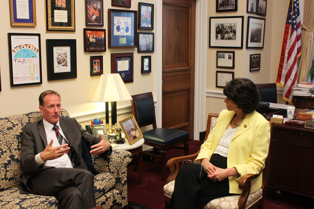 MP Iain McKenzie meets with Congresswoman Roybal-Allard