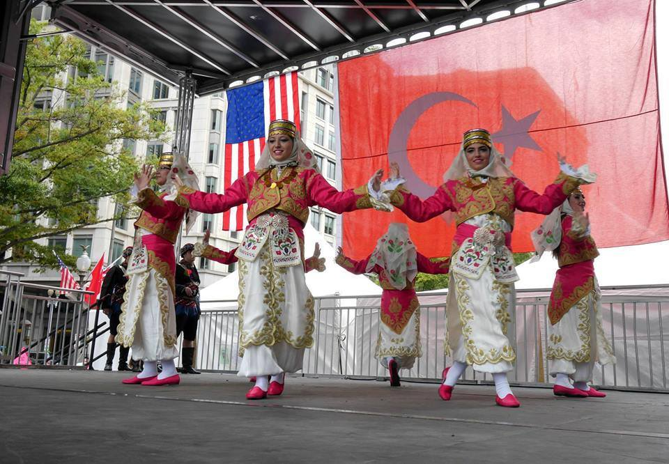 Traditional Turkish dancers performing at the 12th Annual D.C. Turkish Festival on September 28th, 2014