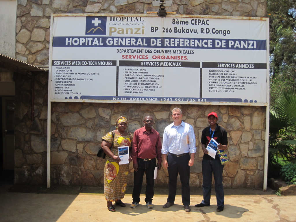 Terry Harvey and Panzi Foundation staff at the Panzi Hospital in Bukavu.