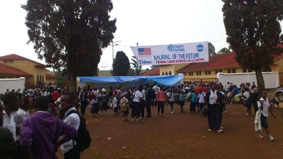 The Bukavu mural site.