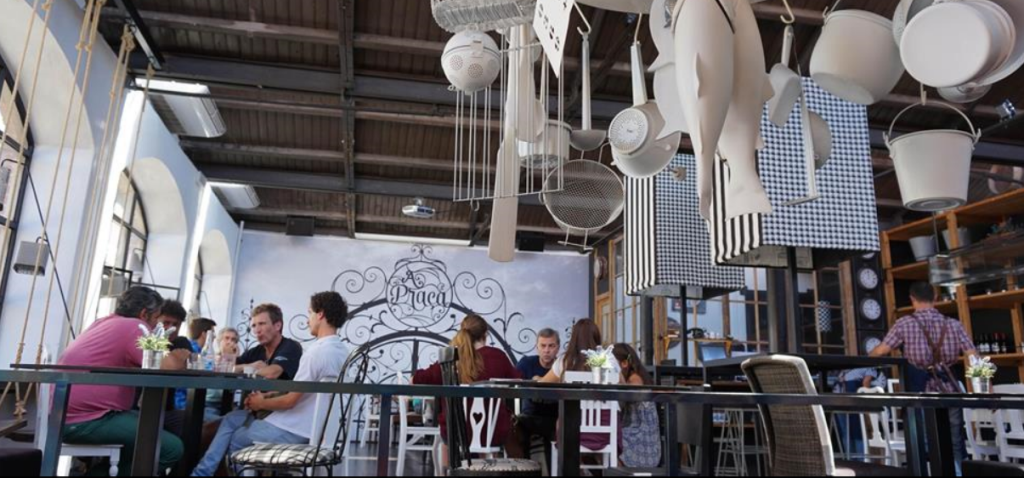 A restaurant in Lisbon's LXFactory industrial complex. Credit: Laura Secorun Palet.