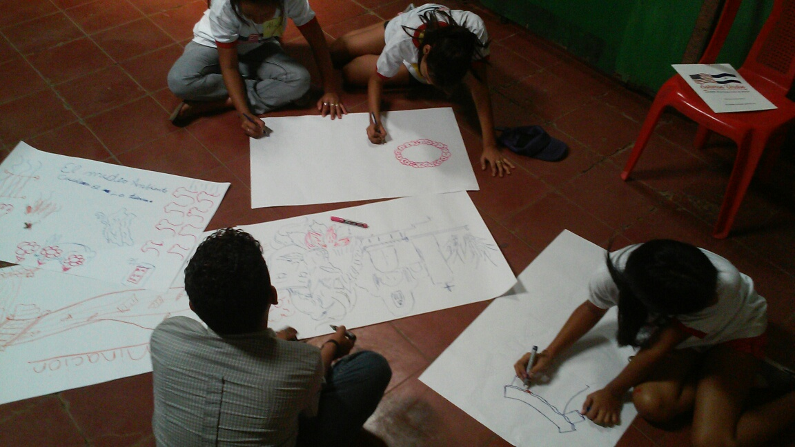 Participants creating sketches during the workshop.