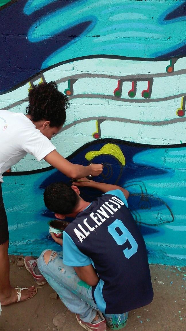 Participants adding last details.