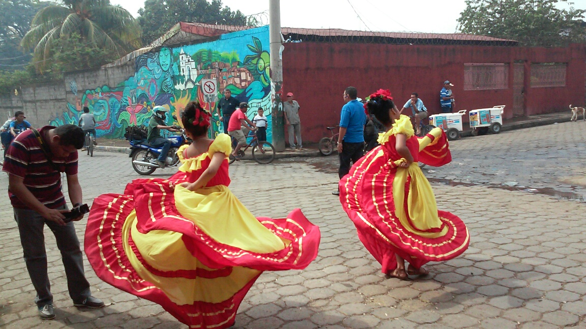 The Agateyte Dance Group performed at the mural unveiling ceremony.