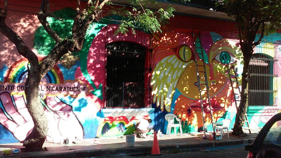 The completed mural.