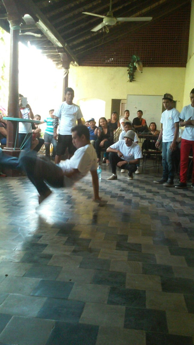 The B-Boys gave a performance before we started our workshop.