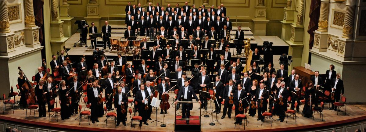 The Staatskapelle Dresden with their new principal conductor, Christian Thielemann, at the Emirates Palace in 2014/Courtesy Abu Dhabi Events.