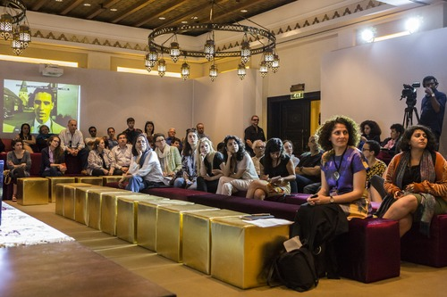 Visitors of Art Dubai 2014 attend a discussion session as part of the Global Art Forum /Courtesy of Art Dubai.