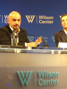 Mustafa speaking at one of the panels organized as part of the Award Ceremony.