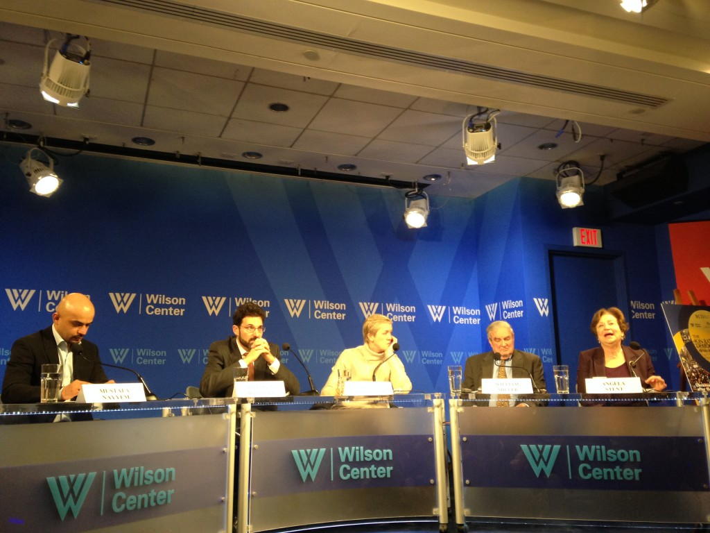 The participants in the 'Ukraine in the World' panel organized as part of the Award Ceremony.