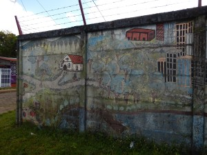 Some of the local murals in Bluefields.