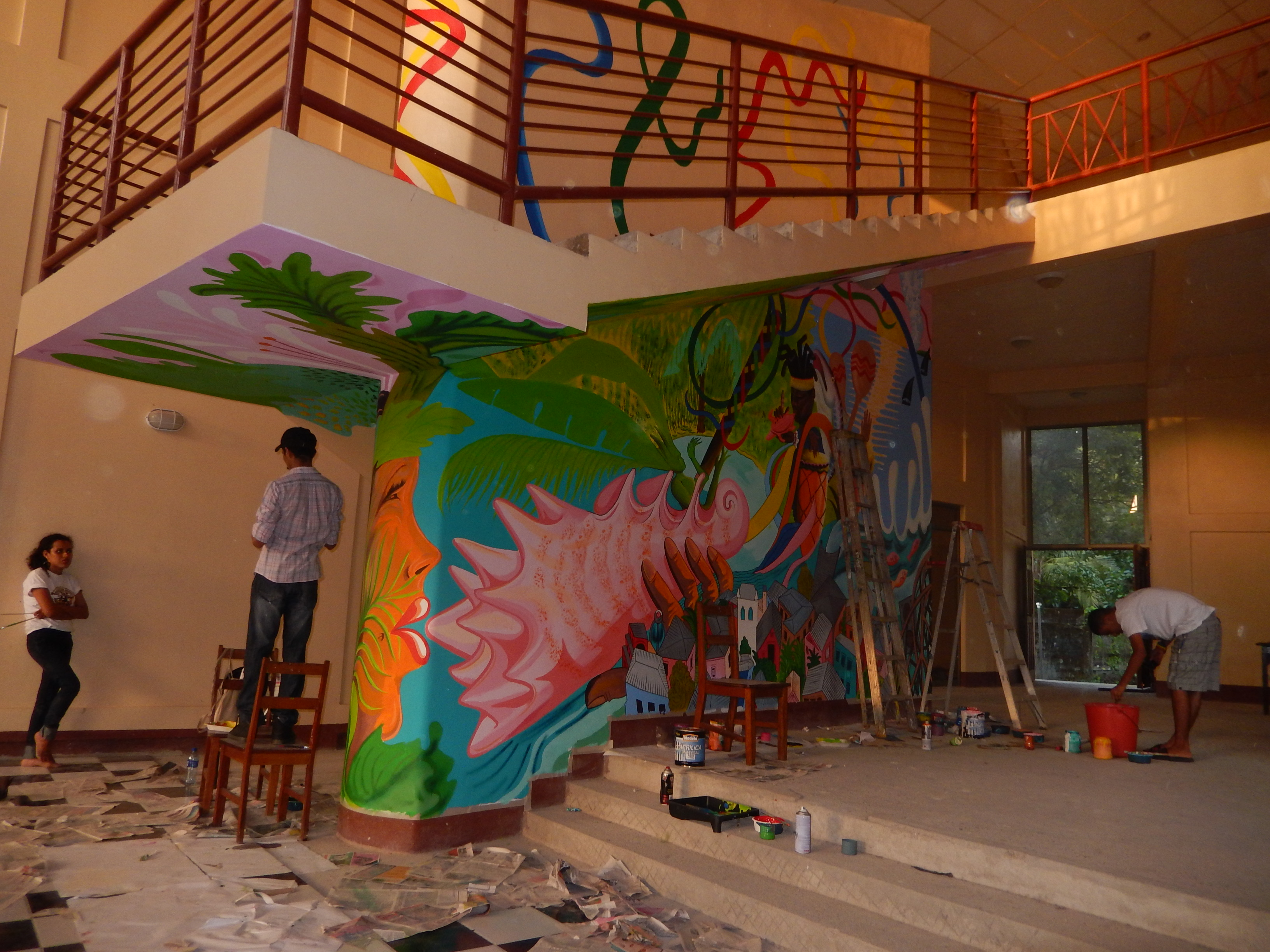 Back in bluefields the last part of my nicaragua murals for Mural nicaraguense