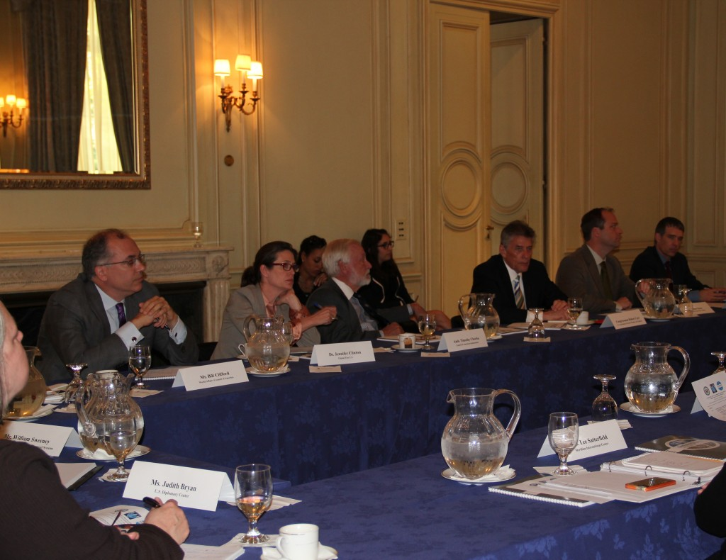 The group gathered to discuss ways to effectively communicate the value of foreign policy to the American public.