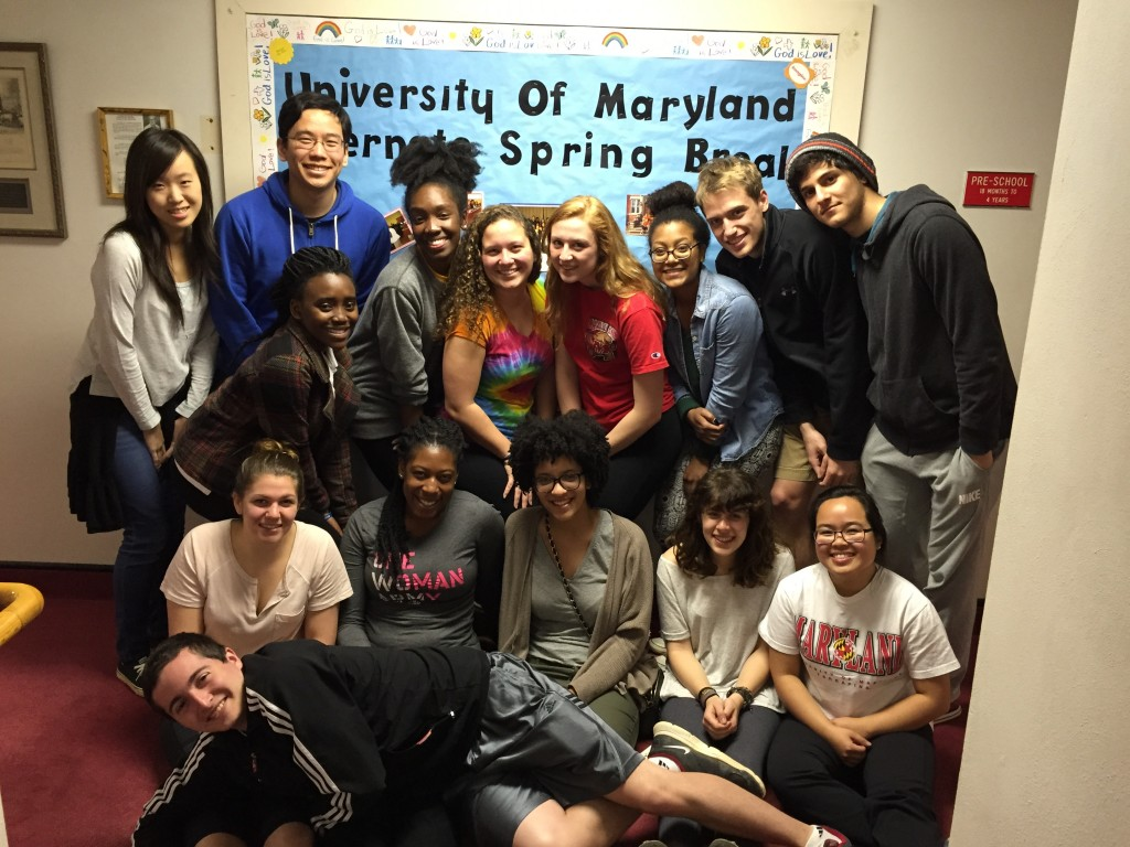 University of Maryland students on their last day in Huntington, WV.