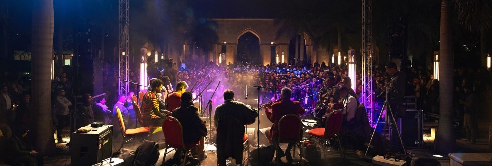 Musicians performing at a Nile Project event. Courtesy of the Nile Project.
