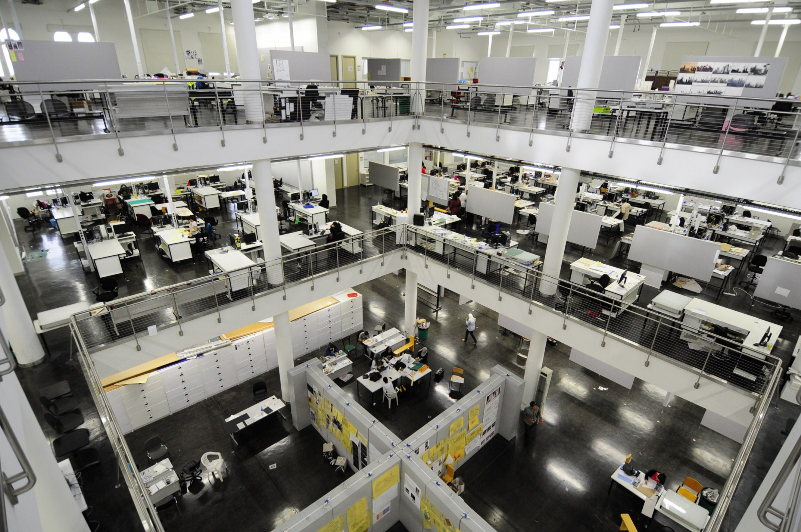 Interior View Of The College Architecture Where Each Student Has His Her Own