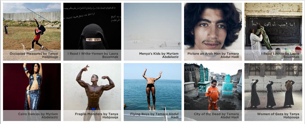 Current Rawiya projects/Courtesy of Rawiya.net