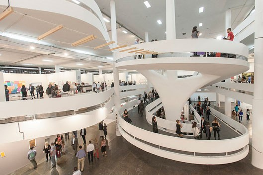 View of the pavilion during the opening/Courtesy of Vinicius Assencio e Pétala Lopes