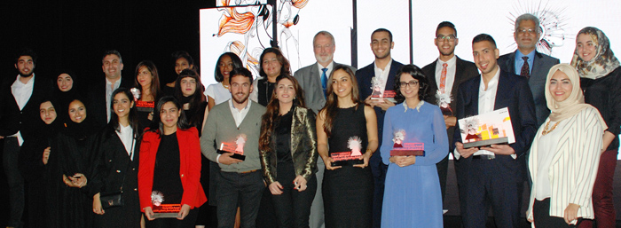 AUS students triumph at the Sheikha Manal Young Artist Award ceremony/Courtesy of AUS.