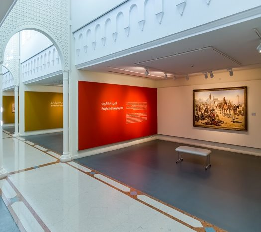Gallery space dedicated to the museum's orientalist paintings/Courtesy of Sharjah Museums Department.