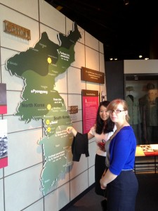 Leorah and her Korean Counterpart at the National Museum of American History