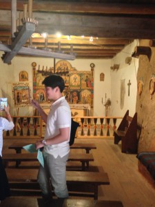 Jae Hyun Park visiting an old church in the Taos Pueblo in New Mexico