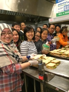 While in Seattle, the group served lunch at Youthcare.