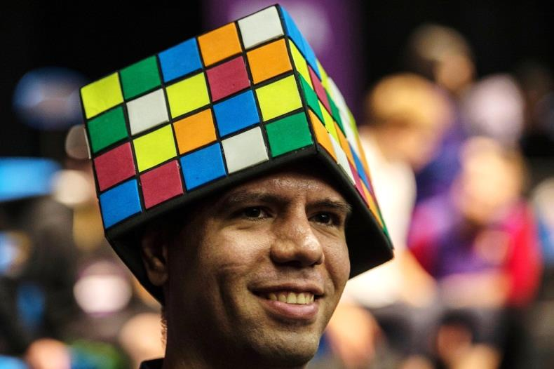 One Cube enthusiast shows his pride at the event through his headwear. Photo courtesy of San Antonio Press-News.