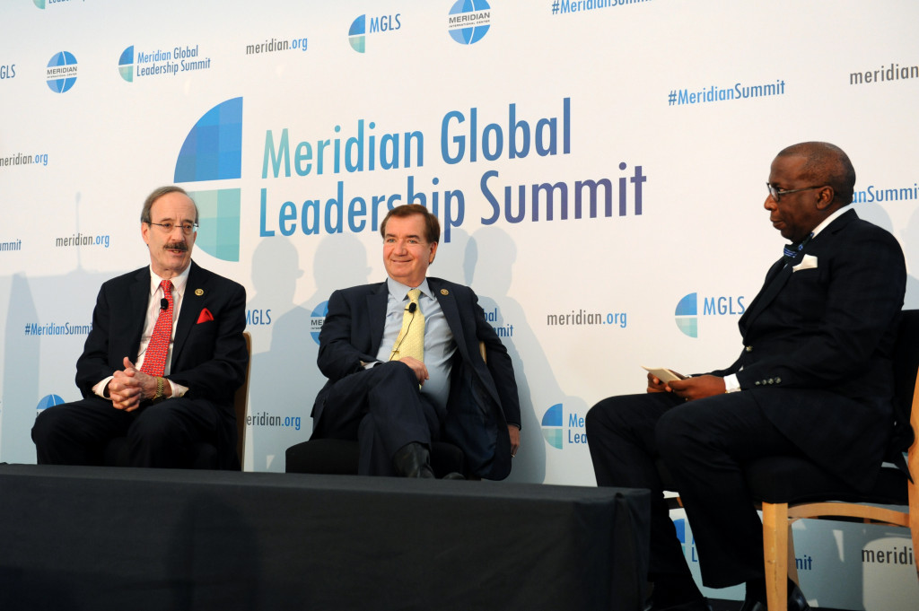 Congressman Eliot Engel (D-NY) and Congressman Ed Royce address why foreign policy matters in citizens' everyday lives, moderated by Alonzo Fulgham.