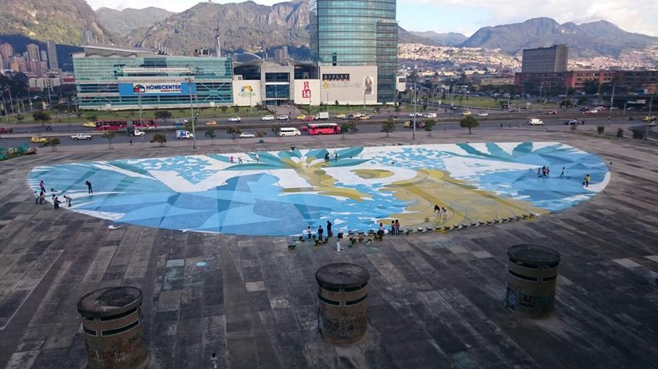 International Alert's Talking Peace Festival showcased the power of creativity in resolving conflict. Pictured here is a social housing arts project in called Plaza de la Hoja in Bogota, Colombia.