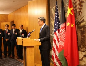 Deputy Secretary of State Tony Blinken addresses the young diplomats at an opening reception hosted by the U.S. Department of State.