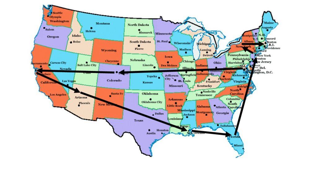 Travel itinerary (Read Washington, DC – Boston, MA)