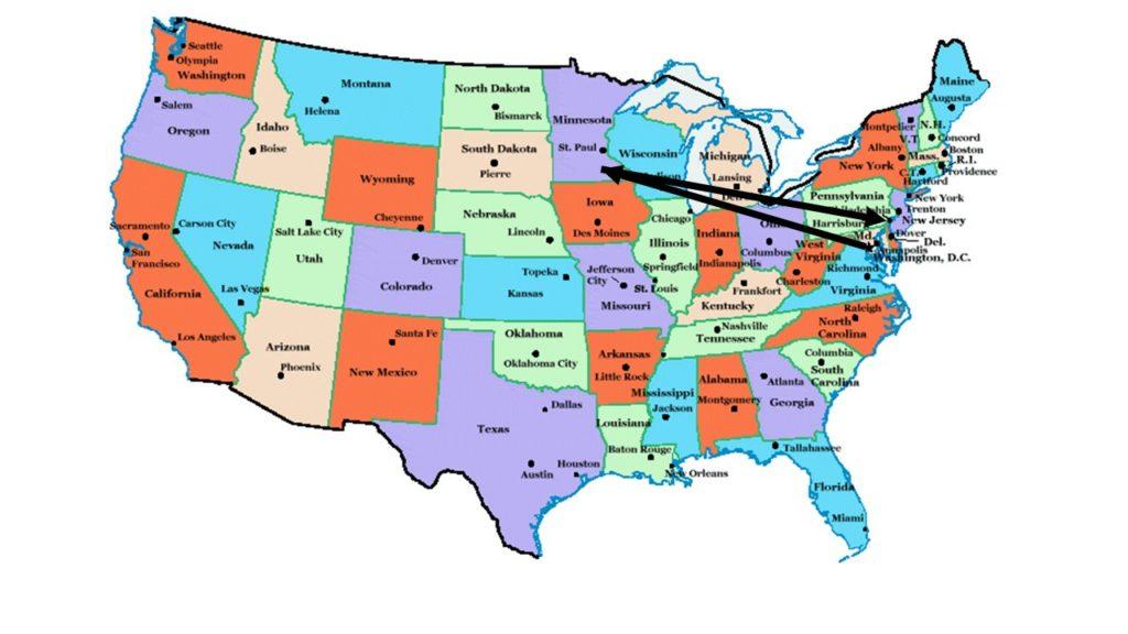 Travel itinerary (Read Washington, DC; Rochester, MN; Philadelphia, PA)