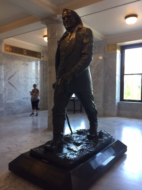Bronze Statue of The American Moses, Brigham Young, in the Utah State Capitol Building