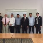 Participants from Uzbekistan following a meeting with GOED