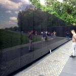 Jan Peter Kern visitig the Vietnam War Memorial.