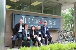 After meeting the President & Publisher, Senior Editors and the Senior Vice President at the News & Observer in Raleigh to learn how local regional papers in smaller cities deal with changing demographics and the rise of internet media.