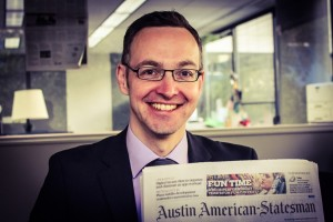 Ronny Strobel after visiting the Austin American-Statesman