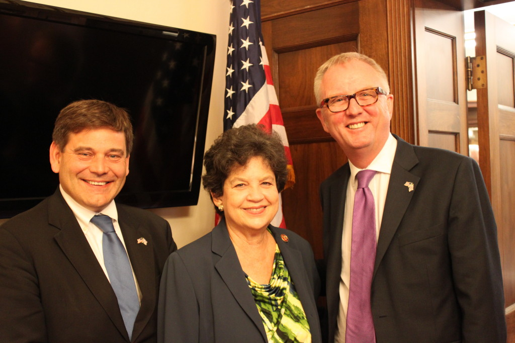(L-R) MP Bridgen, Congresswoman Frankel, and MP Austin