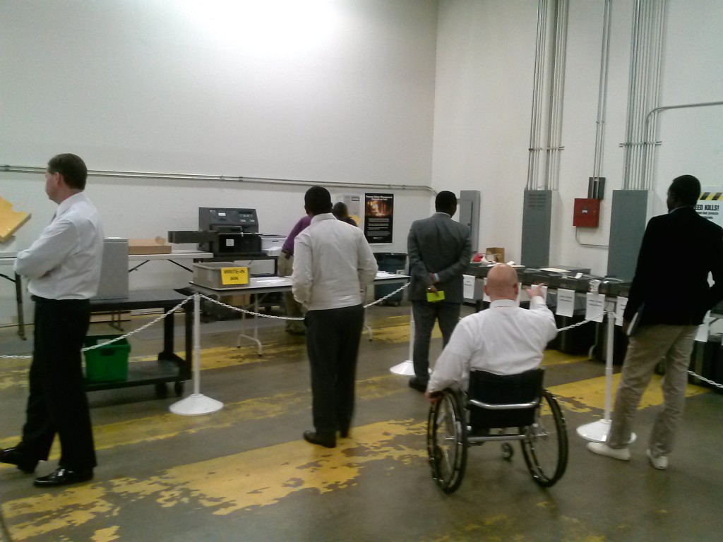 African group in Raleigh Polling Precinct