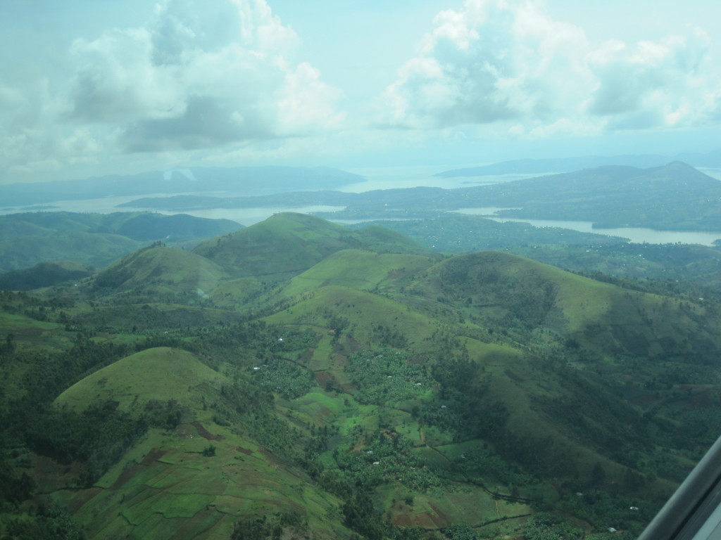 En route from Kinshasha to Bukavu, Terry captured this view of Congolese mountains.