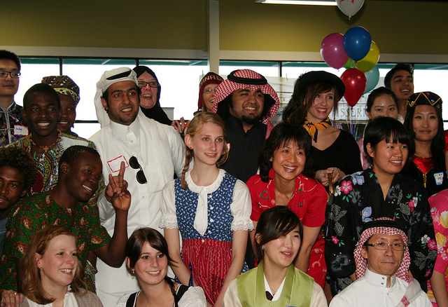 International students at Vancouver Island University celebrating at their Multicultural Festival (Photo Credit: Vancouver Island University)