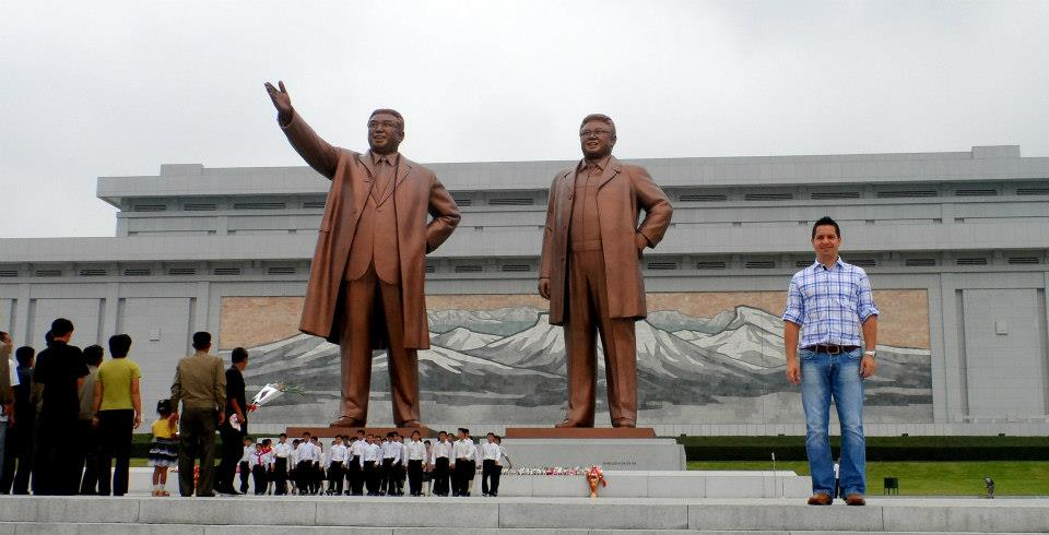 The statue of the Great Leader Kim Il Sung erected in 1972, was joined in 20111 by the statue of the Dear Leader. The museum behind them honors President Kim's sixtieth birthday with a 70 meter wide mosaic of Mount Paektu. A must stop on any tour of DPRK.