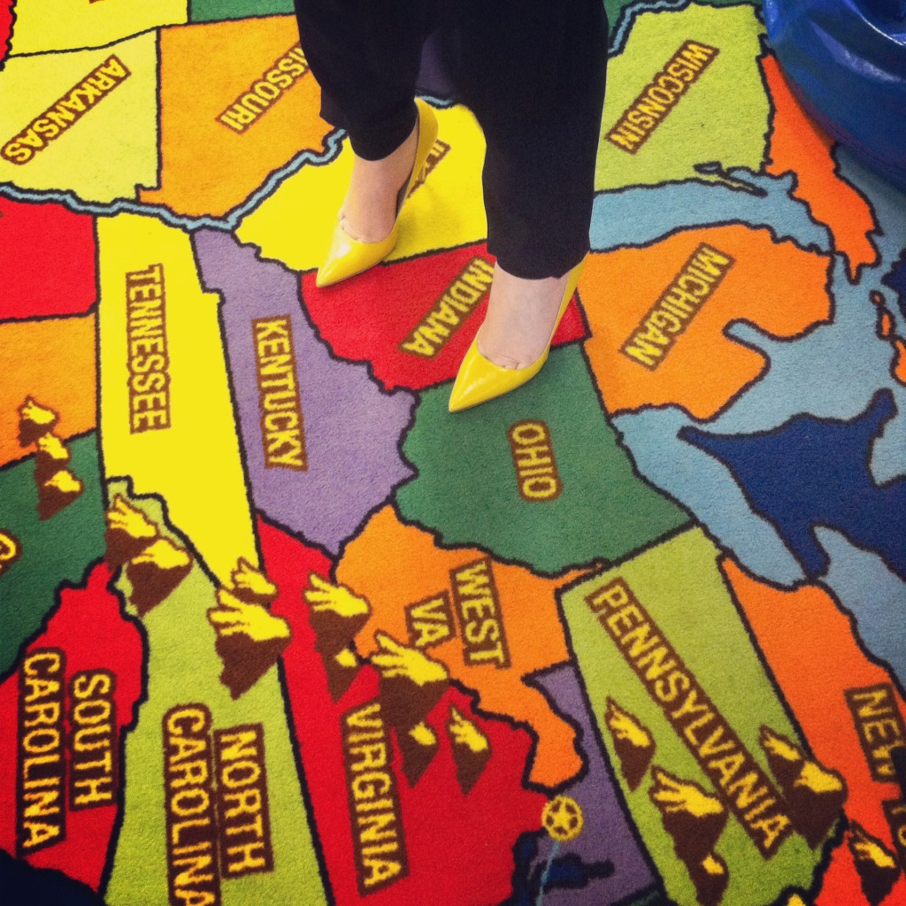 A colorful map of the U.S. from one of the museum visits.