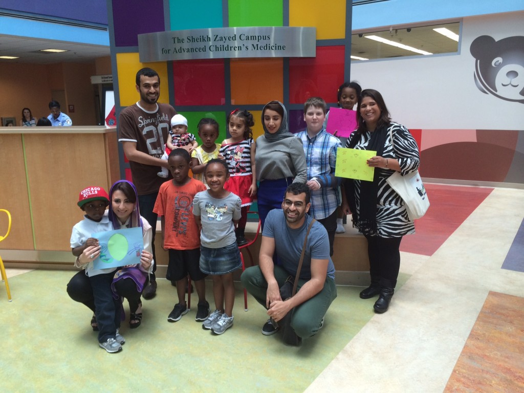 The group with children at the Children's National Medical Center in D.C.