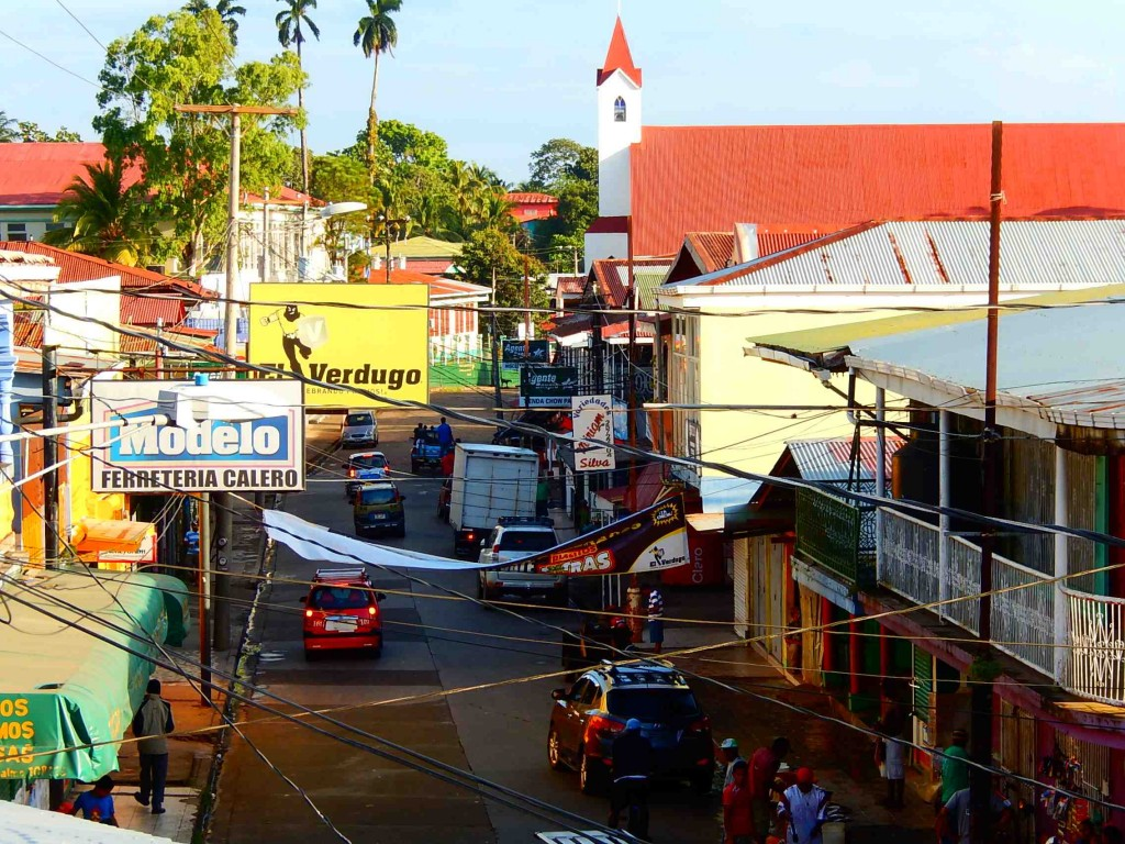A street by the dock in Bluefields.