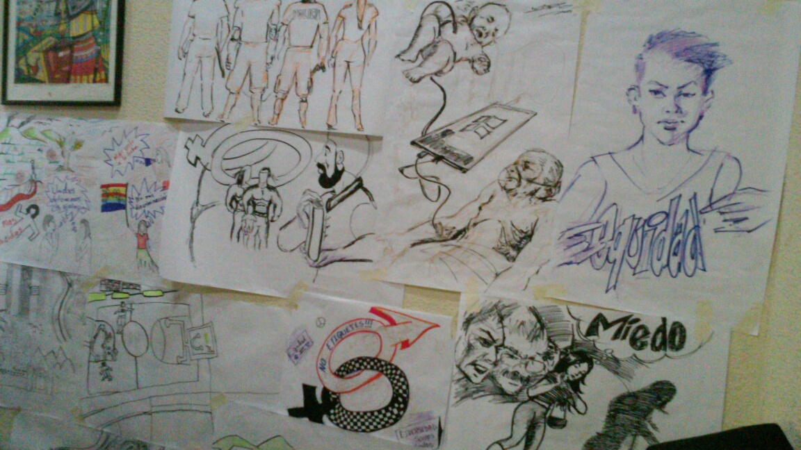 Participants' sketches, which I incorporated into the final design.