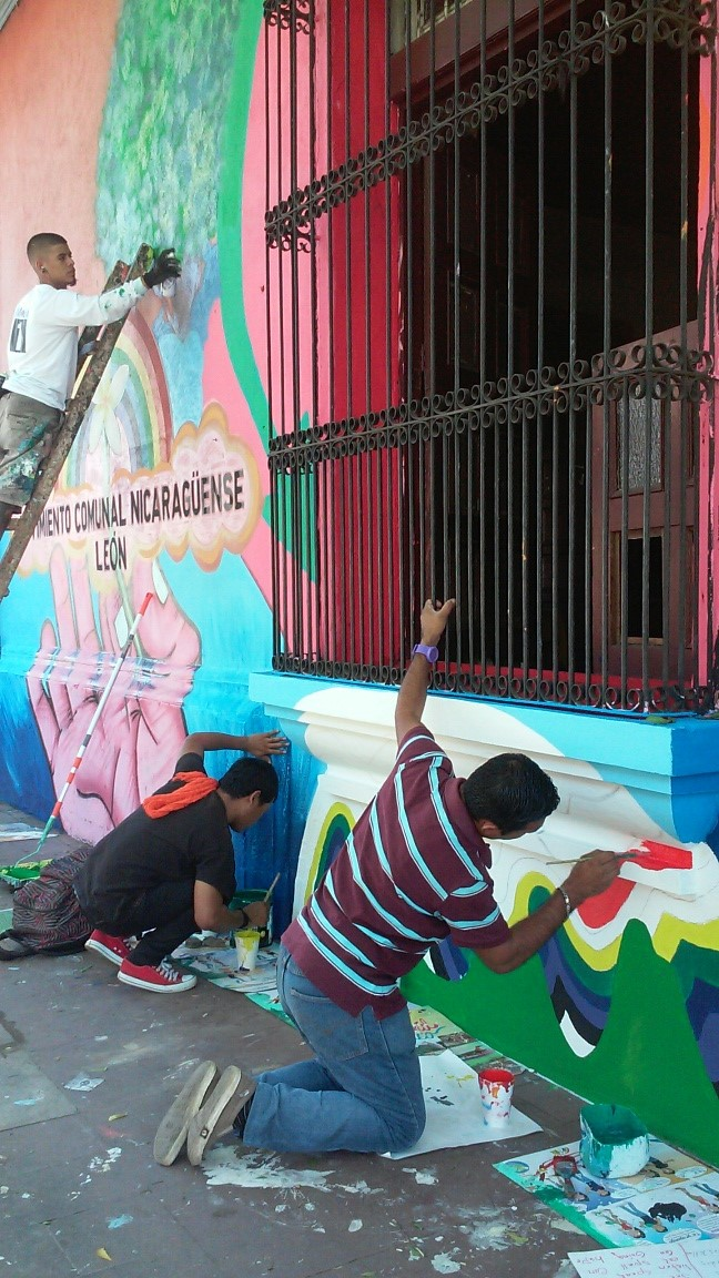Everyone was committed to finishing the mural in our three-day timeframe.