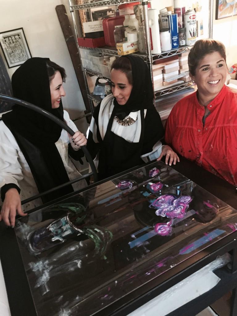 Dana, myself, and Noor at Ann's studio.
